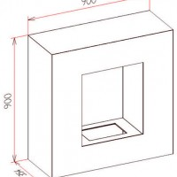 Cube béton ciré